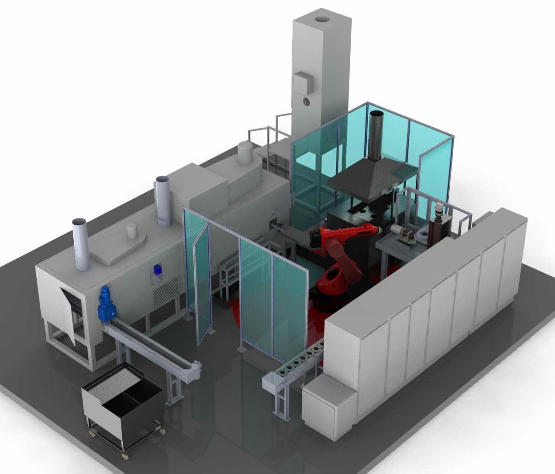 Механическое моделирование в 3D системы индукционного нагрева