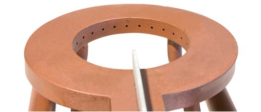 Handmade tradicional manufactured inductor made of copper