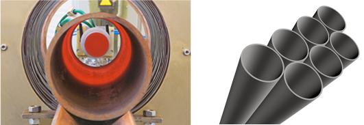 Distensionado de tubos por inducción