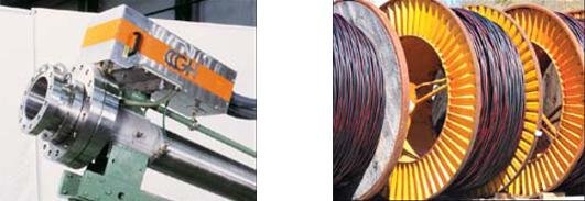 Окончательный нагрев готового силового кабеля