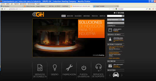 Spanish induction website version available