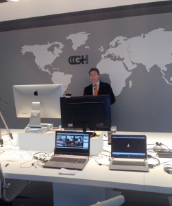 GH CEO, Vicente Juan, from headquarters